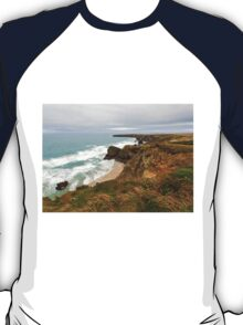 Bedruthan Steps  in Cornwall T-Shirt