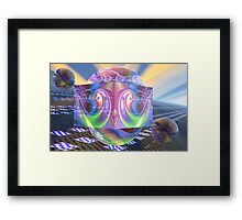 Space lab Framed Print