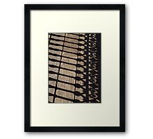 Shadow Railings - Captain Cook Museum, Cooktown Framed Print