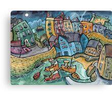 Harbour Moon, Tenby Canvas Print