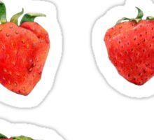 Strawberries Falling Sticker