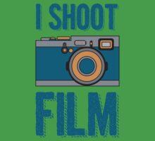 I Shoot Film - Vintage Camera Design One Piece - Short Sleeve