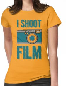 I Shoot Film - Vintage Camera Design Womens Fitted T-Shirt