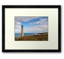 Levant Mine Historical coastline of cornwall Framed Print