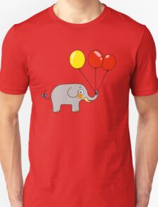 Baby elephant with 3 party balloons T-Shirt