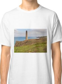 Historical coastline of cornwall Levant Mine Classic T-Shirt