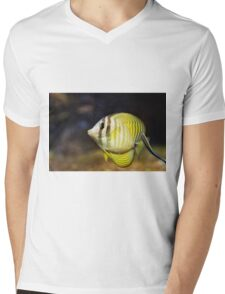 The sailfin tang (Zebrasoma veliferum) Mens V-Neck T-Shirt