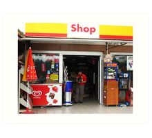 A shop in the Shell  Art Print
