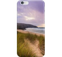 Holywell bay spectacular sunset iPhone Case/Skin