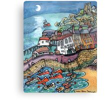 Lovers Moon, Tenby , Wales Canvas Print