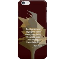 Mark Twain - True to Life iPhone Case/Skin