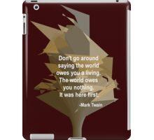 Mark Twain - True to Life iPad Case/Skin