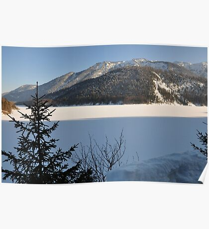 Winter Scene. Sylvenstein. Poster