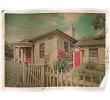 Vintage Cottage Poster