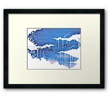 raining clouds Framed Print