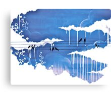raining clouds Canvas Print