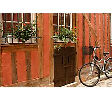 Street Scene- Troyes, France Photographic Print