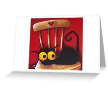 Stressie Cat's chair Greeting Card