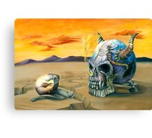 Egg and Skull Painting Canvas Print