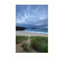 Holywell Bay Sunset Art Print