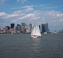 Sailing in New York City by Josef Pittner