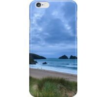 Holywell bay at dusk iPhone Case/Skin