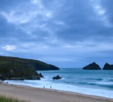 Holywell bay at dusk Sticker