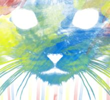 Water Color Cat Sticker