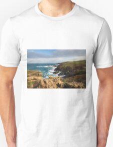 Historical coastline of Cornwall Unisex T-Shirt