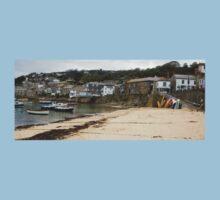 Mousehole Harbour Cornwall England  Kids Tee