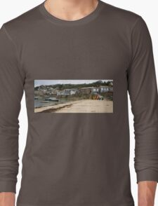 Mousehole Harbour Cornwall England  Long Sleeve T-Shirt