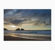 sunset at holywell bay, newquay UK Baby Tee