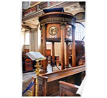 Bible and Pulpit Poster