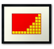 Series:27 episode 1 in red and yellow Framed Print