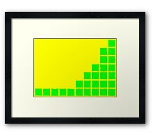 Series:27 episode 1 in yellow and green Framed Print