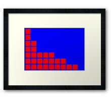 Series:27 episode 2 in blue and red Framed Print