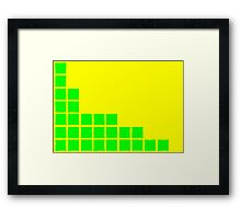 Series:27 episode 2 in yellow and green Framed Print