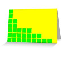Series:27 episode 2 in yellow and green Greeting Card