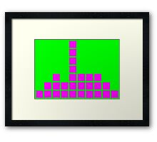 Series:27 episode 3 in green and magenta Framed Print