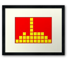 Series:27 episode 3 in red and yellow Framed Print