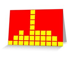 Series:27 episode 3 in red and yellow Greeting Card