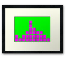 Series:27 episode 4 in green and magenta Framed Print