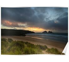 Holywell bay newquay cornwall Poster