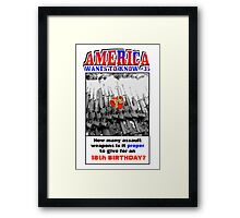 America Wants To Know #35 Framed Print