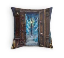 Christmas in Narnia Throw Pillow