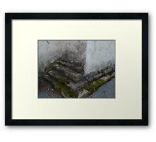 Steps to Nowhere Framed Print