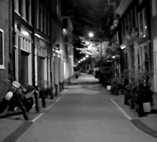 Amsterdam street, a blurry evening by Justin Clark