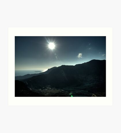 The midday sun from the Caldera Art Print