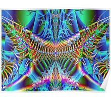 Vector Fractal Butterfly Electrified Poster