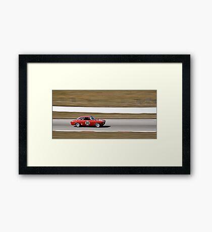 Red Alfa Romeo GTA Mosport Racing Framed Print